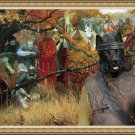 Norwegian Elkhound Black Fine Art Canvas Print - Before the Battle
