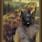 Norwegian Elkhound Black Fine Art Canvas Print - The Suicide of Saul