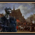 Peruvian Hairless Dog Fine Art Canvas Print - Waiting for his turn