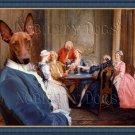 Pharaoh Hound Fine Art Canvas Print - A Game of Quadrille