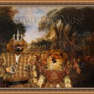 Pomeranian Fine Art Canvas Print - The gallant party with Royal Couple