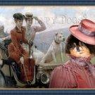 Pomeranian Fine Art Canvas Print - Les Dames Goldsmith au bois de Boulogne
