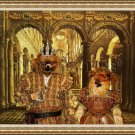 Pomeranian Fine Art Canvas Print - In the Palace after a Lunch