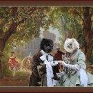 Pomeranian Fine Art Canvas Print - Park Scene