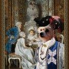 Portuguese Warren Hound Fine Art Canvas Print - The Card Players