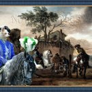 Portuguese Warren Hound Fine Art Canvas Print - The Riding School