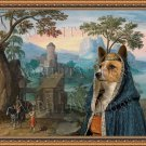 Portuguese Warren Hound Fine Art Canvas Print - Wide mountainous landscape