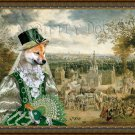 Shiba Inu Fine Art Canvas Print - View on the Fair day