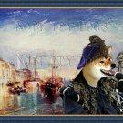 Shiba Inu Fine Art Canvas Print - Venecian Cavalier