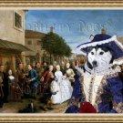 Siberian Husky Fine Art Canvas Print - The wedding of my Sister