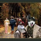 Siberian Husky Fine Art Canvas Print - The Fiancee and their Parents