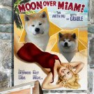 Akita Inu Poster Canvas Print -  Moon Over Miami