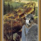 Swedish Elkhound Fine Art Canvas Print - The Suicide of Saul