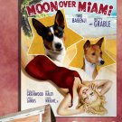 Basenji Canvas Print - Moon Over Miami Movie Poster