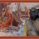 Swedish Elkhound Fine Art Canvas Print - Battle of ship