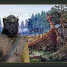 Swedish Elkhound Fine Art Canvas Print - Viking Ship