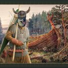 Swedish Vallhund Fine Art Canvas Print - The abandoned Viking ship