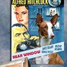 Ibizan Hound Canvas Print - Rear Window Movie Poster