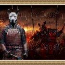 Thai Ridgeback Dog Fine Art Canvas Print - Battle of Samurai