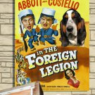 Basset Hound Canvas Print - Abbott and Costello in the Foreign Legion Movie Poster