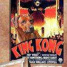 Rhodesian Ridgeback Canvas Print - KING KONG Movie Poster