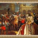 Basset Fauve de Bretagne Fine Art Canvas Print - Entry of Henri IV in Paris