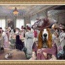 Basset Hound Fine Art Canvas Print - The best hat