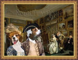Beagle Fine Art Canvas Print - The lesson painting