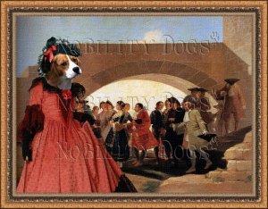 Beagle Fine Art Canvas Print - La Noce