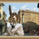 Beagle Fine Art Canvas Print - Piazza Santa Trinita Firenze