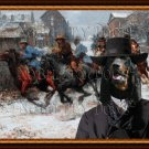 Black and Tan Coonhound Fine Art Canvas Print - James Gang