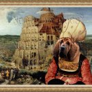 Bloodhound Fine Art Canvas Print - The Tower of Babel