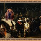 Bloodhound Fine Art Canvas Print - Night Watch