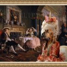 Bloodhound Fine Art Canvas Print - Bid for marriage and her mother