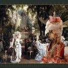 Bloodhound Fine Art Canvas Print - The Garden Party