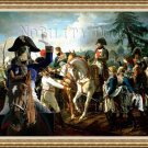 Blue Gascony Basset Fine Art Canvas Print - Napoleon and Soldiers