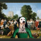 Dalmatian Fine Art Canvas Print - Pride Madam the festive lunch