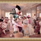 Dalmatian Fine Art Canvas Print - My hat is the most beatiful