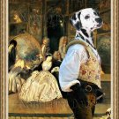 Dalmatian Fine Art Canvas Print - The fencer in Antique shop