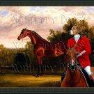 Hamiltonstovare - Fine Art Canvas Print - Bay Horse in a Landscape
