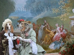 Porcelaine Fine Art Canvas Print - Garden Promenade
