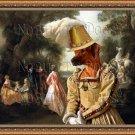 Rhodesian Ridgeback Fine Art Canvas Print - The Spectatress Fun in the Castle Park