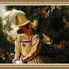 Rhodesian Ridgeback Fine Art Canvas Print - The Rendezvous After the Hunt