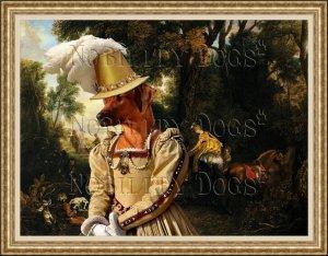 Rhodesian Ridgeback Fine Art Canvas Print - The Rendezvous After the Hunt