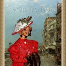Rhodesian Ridgeback Fine Art Canvas Print - The Lady in Red in Venice Riva