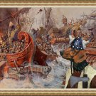 Schillerstövare Fine Art Canvas Print - Varvarin Battle