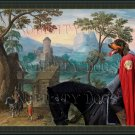 Slovensky Kopov Fine Art Canvas Print - Wide Mountainous landscape with a Castle