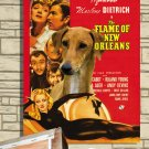 Azawakh Poster Canvas Print -  The Flame of New Orleans Movie Poster