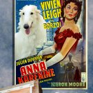 Borzoi Poster Art Canvas Print -  Anna Karenina Movie Poster