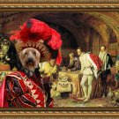 Australian Silky Terrier Fine Art Canvas Print - The King and his suite